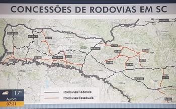 Santa Catarina terá pedágios em estradas estaduais.