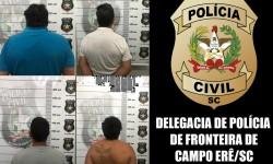 Policia cumpre cinco mandados de prisão em Campo Erê