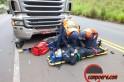 Motociclista ficou ferido. Foto: Jandir Sabedot / www.campere.com