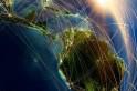 Ilustração simbólica do fluxo aéreo de parte da América Latina. (SAC-PR)