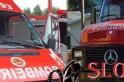 Bombeiros - Motociclista fica ferido na SC 160 e dois incêndios são combatidos
