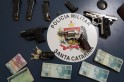 Homens são detidos com armas, drogas e dinheiro em Dionísio Cerqueira
