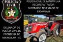 Trator furtado em Votuporanga SP é recuperado em Maravilha SC