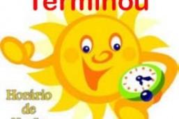 Mais curto horário de verão termina neste final de semana