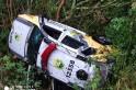 Viatura policial de Flor da Serra do Sul capota na BR 280